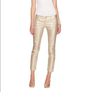 Lilly Pulitzer Gold Worth Skinny Jeans